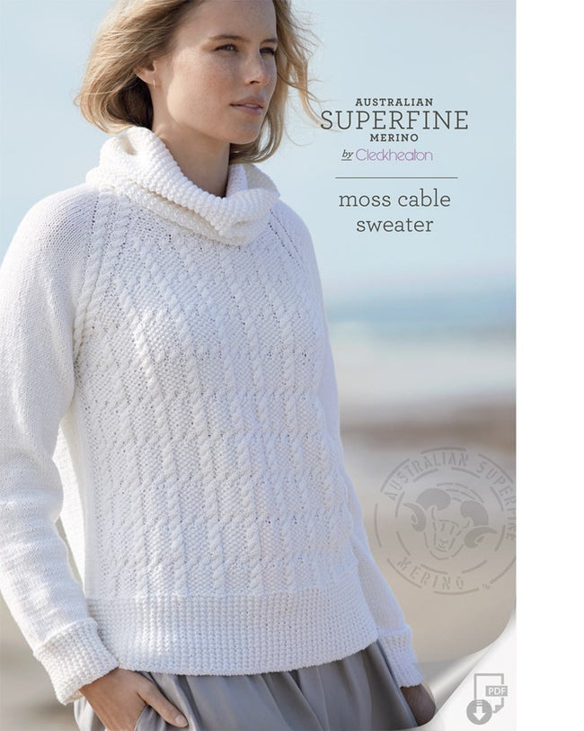 429 Moss Cable Sweater