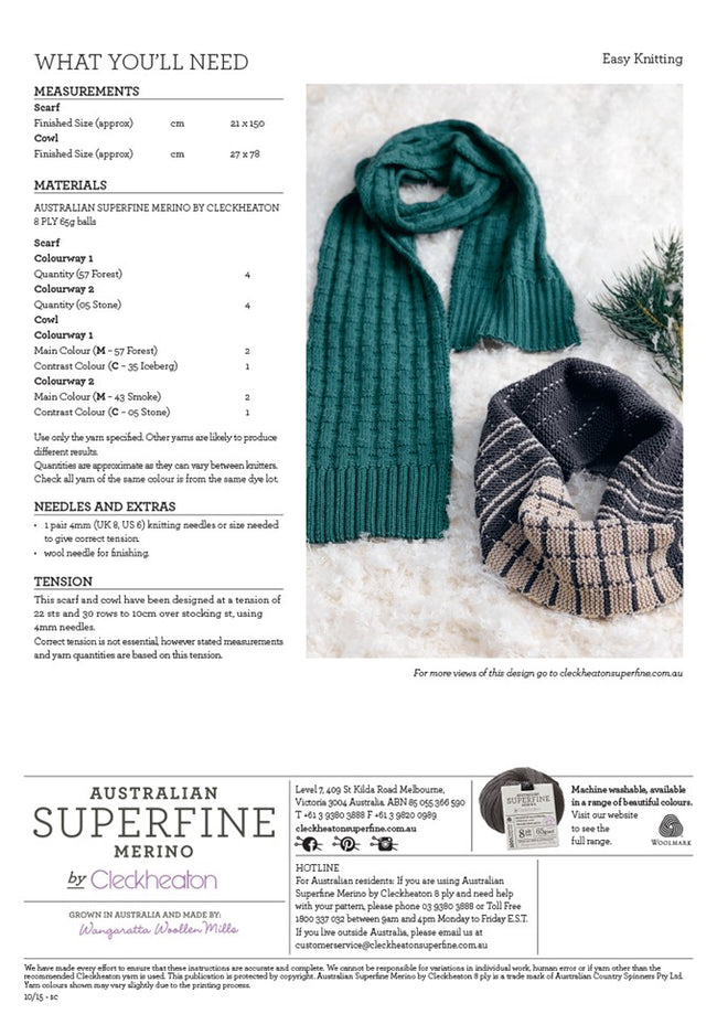 437 Men's Scarf and Cowl