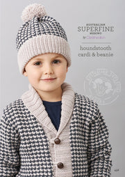 456 Houndstooth Cardi and Beanie
