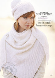 452 Check Stitch Beanie and Wrap