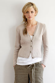 031 Fitted Cotton Cardigan