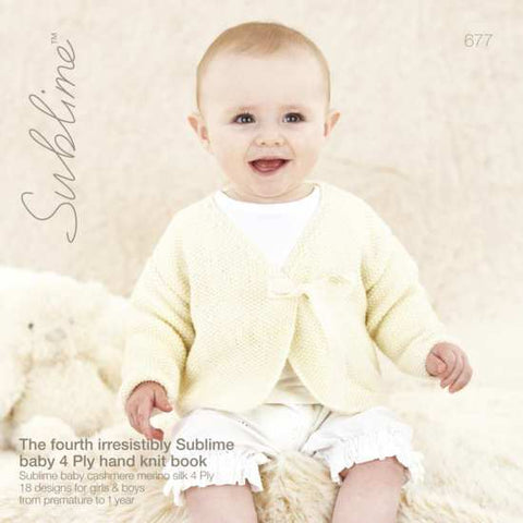 677 The Fourth Sublime Baby 4 Ply Hand Knit Book
