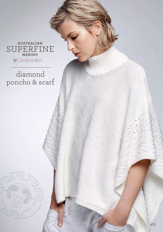 435 Diamond Poncho and Scarf