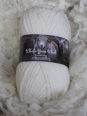 White Gum Wool Bouclé 12 ply