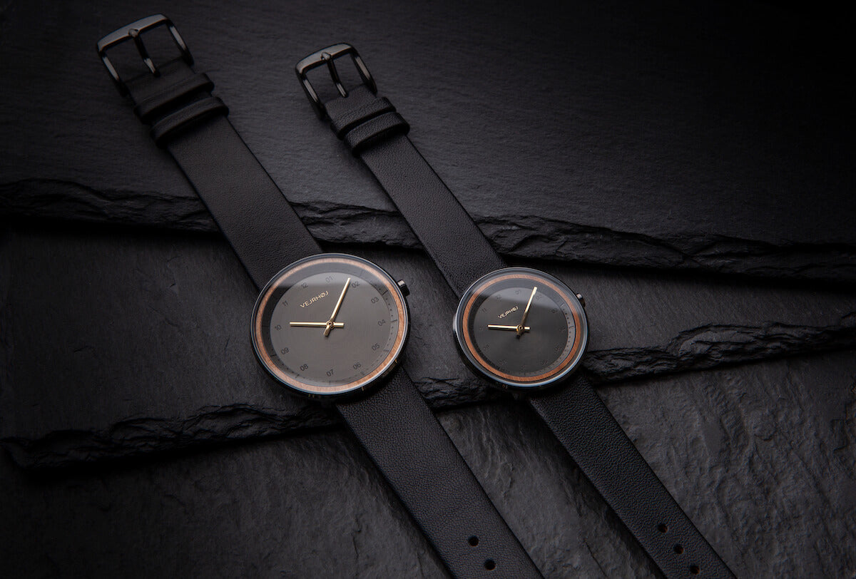 BLACK & GOLD wood watch