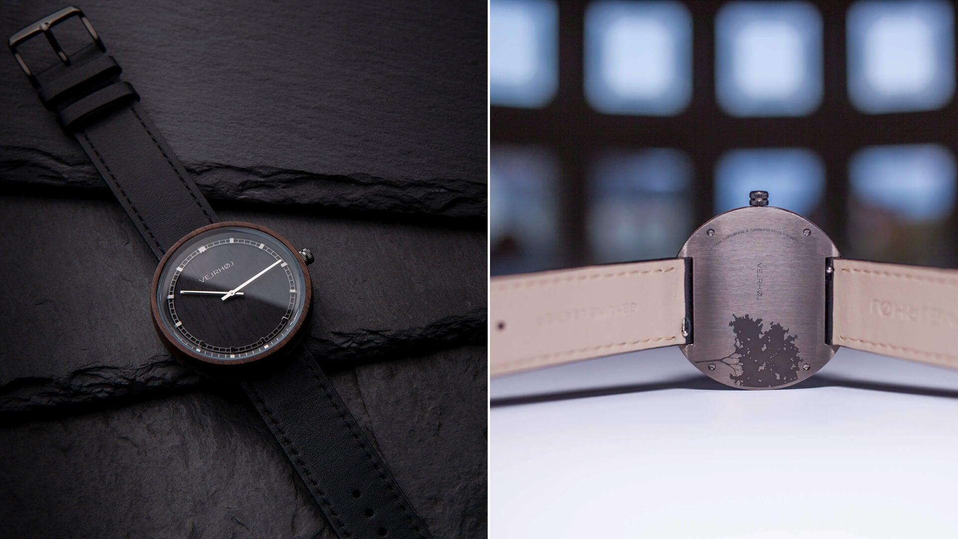 ARCH 04 black wood watch | VEJRHØJ