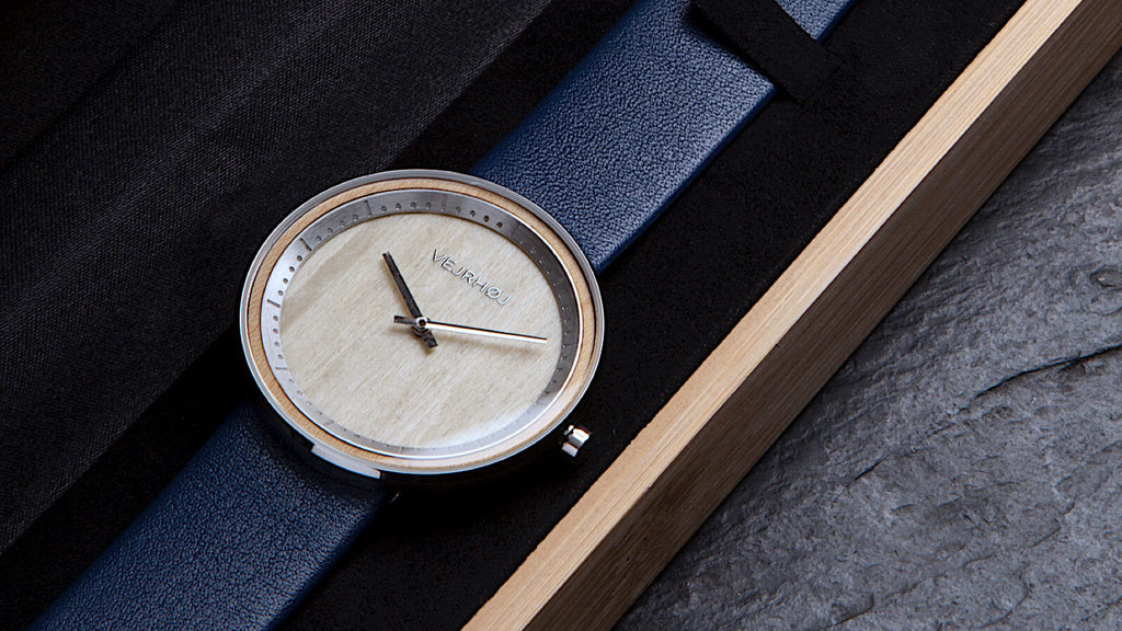 wooden watch - maple wood - VEJRHOJ