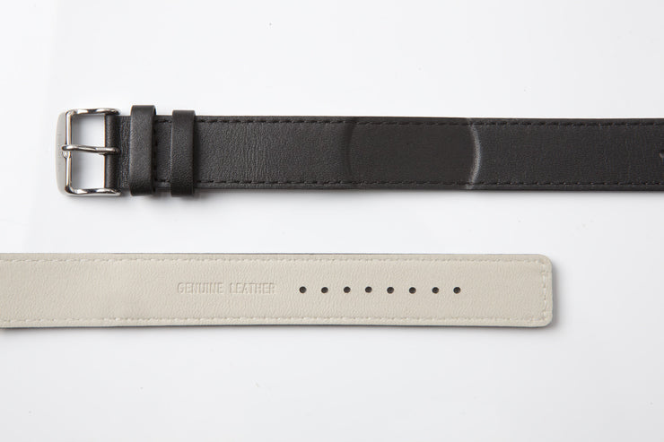 NAUTIC | Black Leather Strap