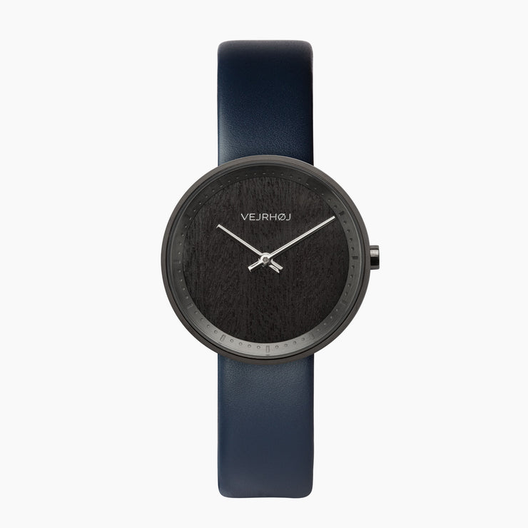 Women's black watch blue strap - Luna VEJRHØJ