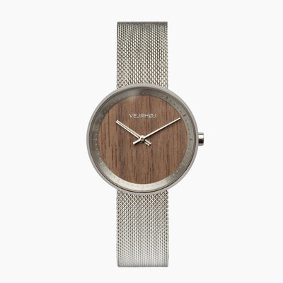 Walnut wooden watch for women - VEJRHØJ