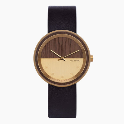 Wooden watch - VEJRHØJ - The GOLD watch
