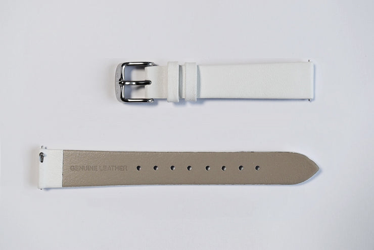 White leather strap - 16mm width