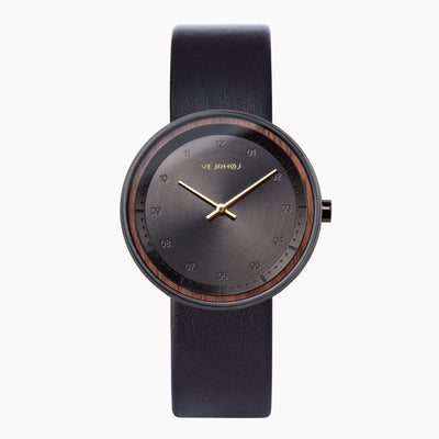BLACK and GOLD wood watch