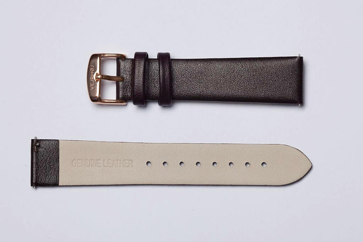 Brown leather strap - 20mm width