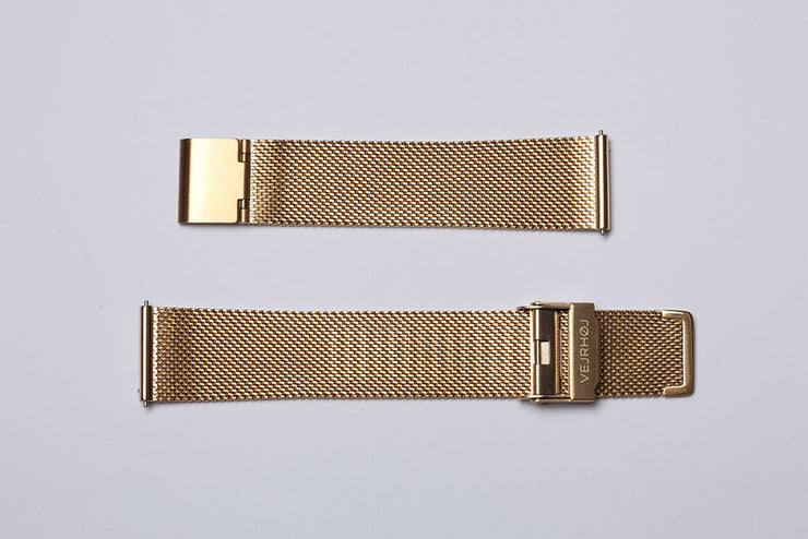 Gold mesh band - 20mm width