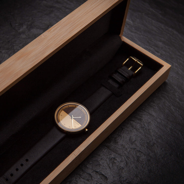 The GOLD womens wood watch - VEJRHØJ
