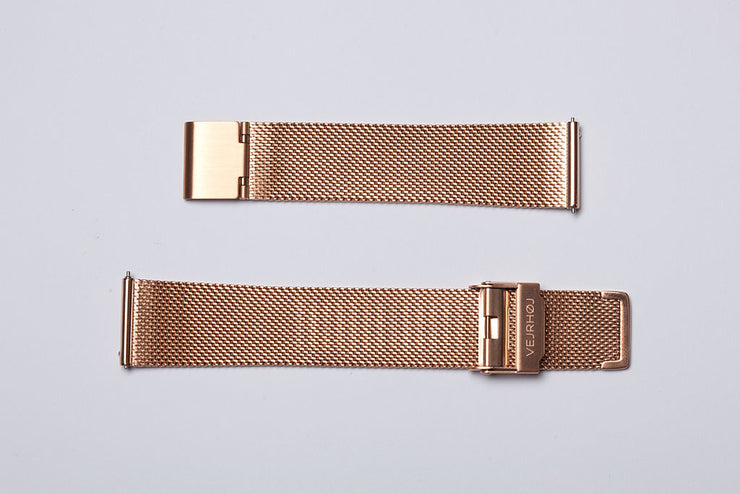 Rose gold mesh band - 20mm width
