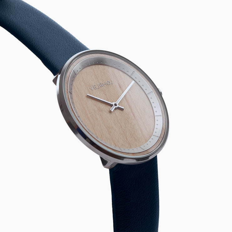 maple wooden watch - THE SILVER - VEJRHØJ