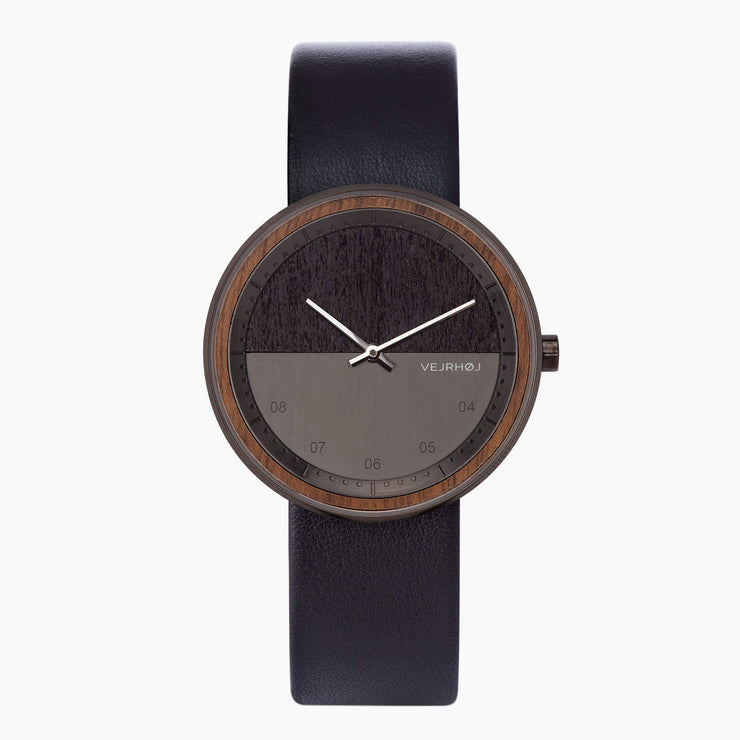 dark wooden watch - VEJRHØJ - The GUN