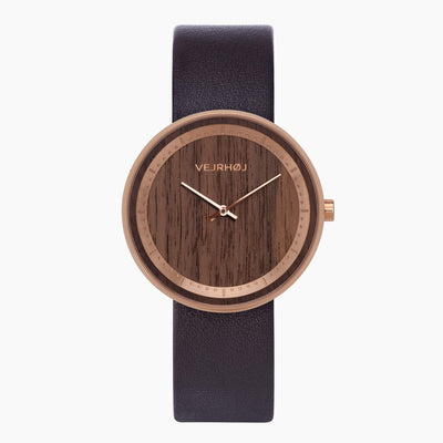 walnut wood watch - VEJRHØJ - The ROSE