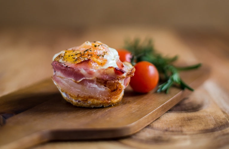Baked Egg & Bacon Cups with Dukkah