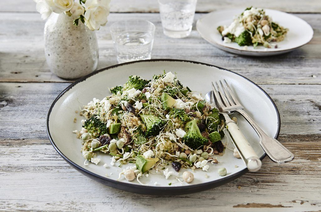 broccoli feta quinoa salad