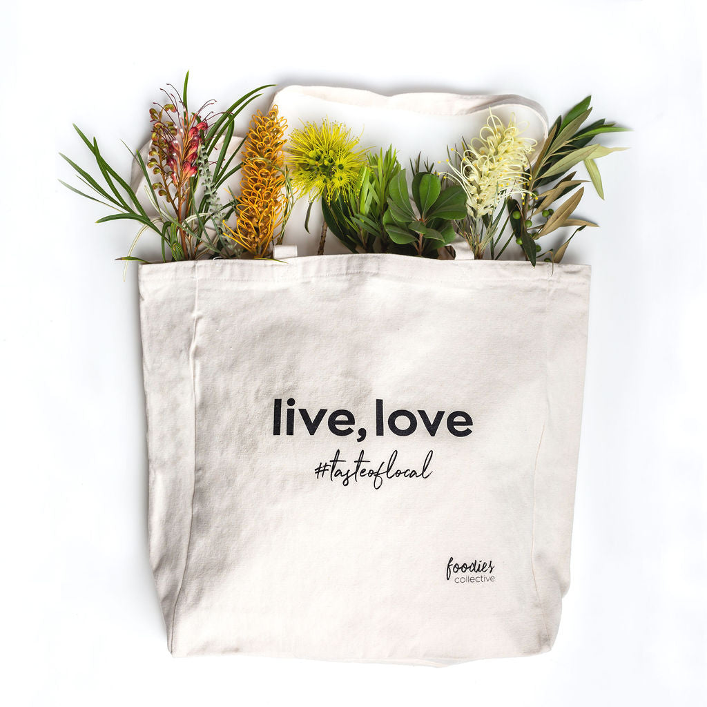 Premium Cotton Canvas Market Tote - #tasteoflocal