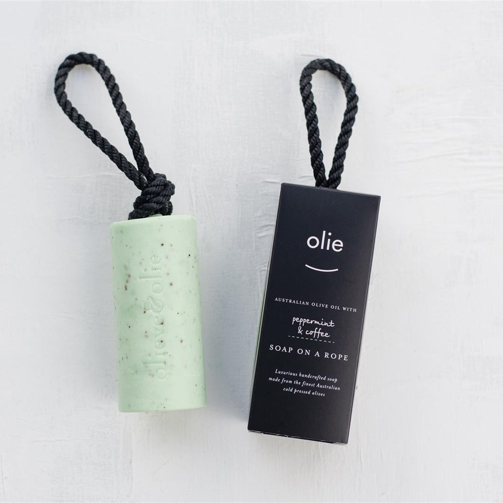 Olieve & Olie - Peppermint & Coffee Soap On A Rope