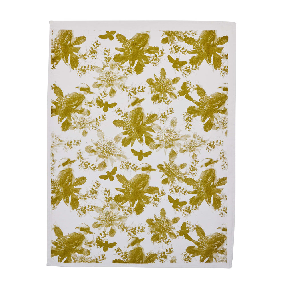 Bonnie & Neil Tea Towel - Tiny Kooka Olive
