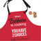 Personalized Apron for Women Men Kids Cooking Custom with Any Chef's Name in Kitchen Super Cute. Great Gift for Couples, Valentine's Day Grandma Girls Adults Christmas Mothers Day