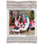 Personalized Christmas White Landscape Pattern Throw Blanket Customized Blanket