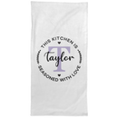 Personalized Monogram Hand Towel, Custom Name House Warming Gifts for Kids Girls Boys Men Women, New Home, Guest Bathroom, Christmas, Thanksgiving
