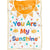 Personalized You Are My Sunshine Baby Blanket, Custom Name Blankets