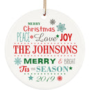 Yeh Gift Personalized Christmas Ornament Huge Collection with Cool Designs & Your Own Photo. Couples Baby First, Nightmare Before Christmas. Christmas Decorations for The Home - 1 Sided