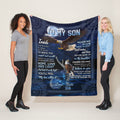 Personalized Name Blanket – To My Son Eagle Throw Best Gift From Dad And Mom Blanket