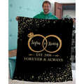 Personalized Partner Gifts Wedding Ring Sets Blanket