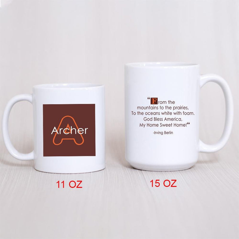 34 Quotes Personalized Coffee Mug - The Coffee Mug Gift For Special Occations - Orange Design Mug - YehGift