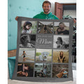 Personalized Mothers Day Throw, Custom Family Photo Name Blanket