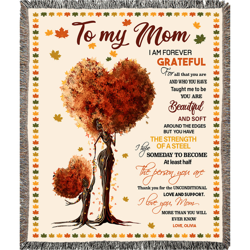 Mom Personalized Blanket from Daughter & Son - To My Mom We Love You - Best Gift for Mothers Day, Birthday - Fleece Blanket