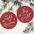 Personalized Christmas Ornament Collection with Cool Designs. Couples Baby First, Nightmare Before Christmas... Christmas Decorations for The Home - 1 Sided