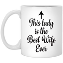 Coffee Mug - Best Wife Ever Mug - Top Anniversary or Xmas Present or Unique Christmas Gifts for Wife, Women, Her, Newlywed, Mrs - 11 Ounce Coffee Mug