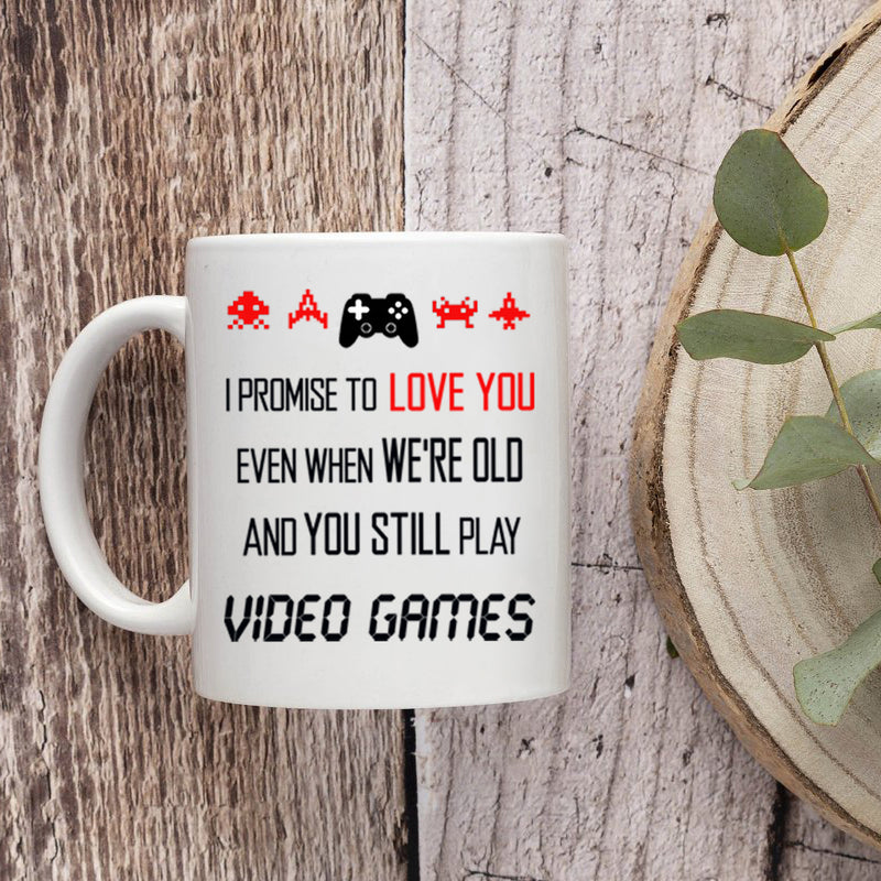 Cute Funny Cool Gaming Mug Gift for a Nerd Geek Friend - Valentines Day Best Anniversary Birthday Gift For Boyfriend Him Husband Video Gamers  - Coffee Mug 11 oz