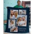 Personalized 5 Tilty Collage Photos Custom From Your Photos & Name Blanket