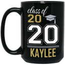 Personalized Graduation Mug - Custom Name and Class Year Black Mug For College High School Students Best Ideal for Graduation Congratulations Gift