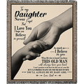 Personalized to My Daughter Never Forget That I Love You Blanket