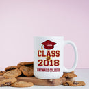Personalized Coffee Mug- Custom Name With Graduation Year and 1 line message (special message, school name, etc.) Class Of Year Mug Gift For Graduation Day, Opening ceremony, Special Celebration