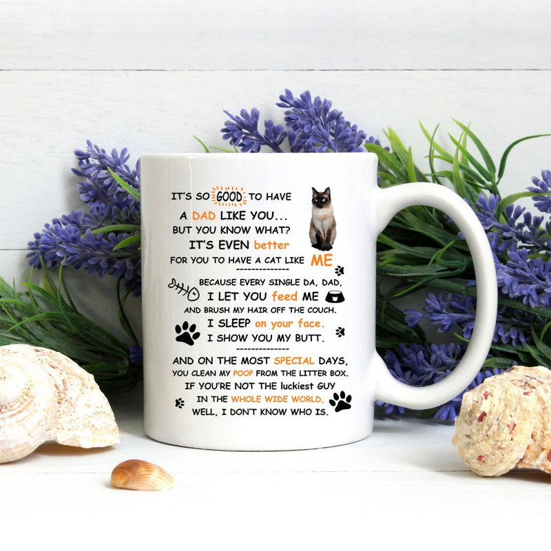 Coffee Mug - Dad Cat Mug - Perfect Gift To Cat Dad Cat Lover - 11 Ounce Coffee Mug Cup - YehGift