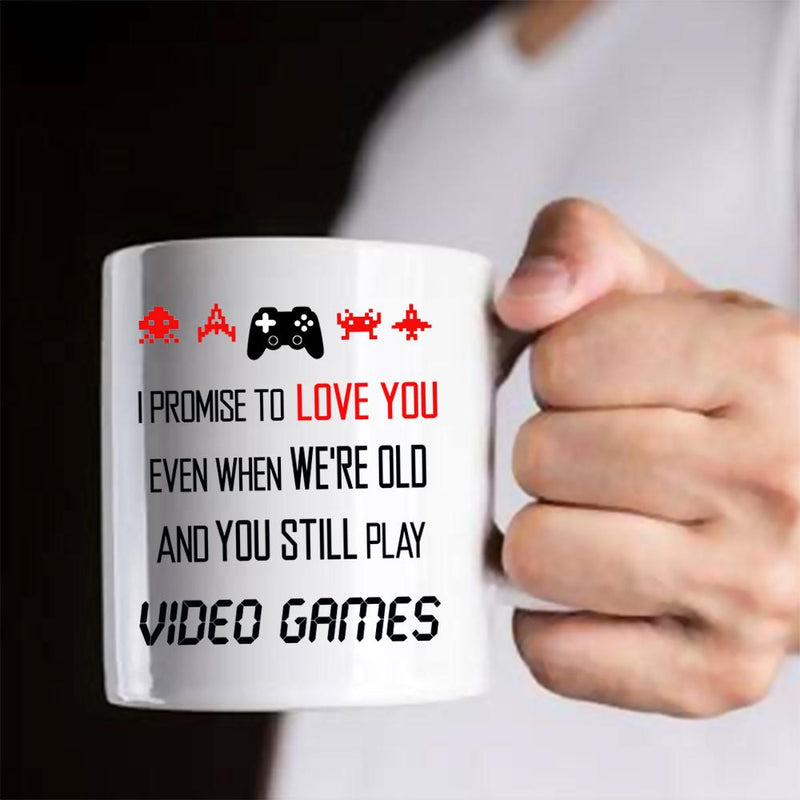 Cute Funny Cool Gaming Mug Gift for a Nerd Geek Friend - Valentines Day Best Anniversary Birthday Gift For Boyfriend Him Husband Video Gamers - Coffee Mug 11 oz - YehGift