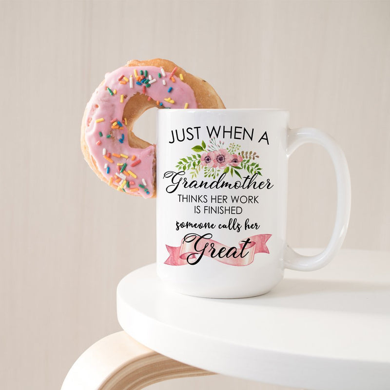 First Time Great-Grandmother Gift Mug, Coffee Mugs For Best Mom Grandma Nana, New Great Grandmas Pregnancy Announcement - 15 Ounce Coffee Mug Cup - YehGift