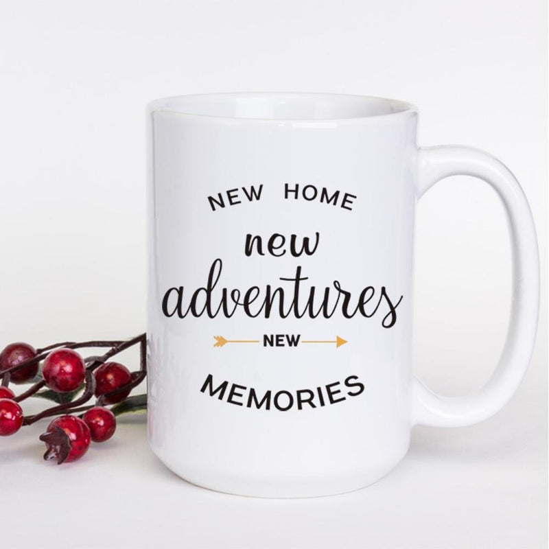 Housewarming Gifts For New Home – House Warming Decoration Gifts for Him, Her, Couple, Men and Women- New Home Coffee Mug - 15 Ounce Coffee Mug Cup - YehGift